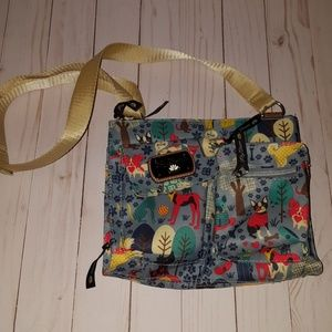 Lily Bloom cross body handbag who let the dogs out